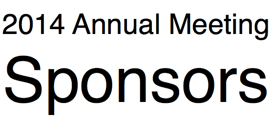 2014 Annual Conference Sponsors